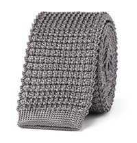 Lanvin 5Cm Knitted Silk Tie Gray