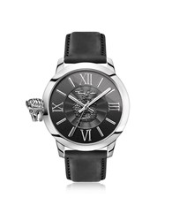 Thomas Sabo Men's Watches Rebel With Karma Silver Stainless Steel Men's Watch W Black Leather Strap