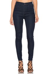 Free People Cyndi High Rise Skinny Jean Dark Denim