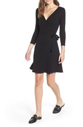 Amour Vert Theodora Rib Wrap Dress Black