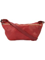 Guidi Zip Messenger Bag Unisex Horse Leather One Size Red