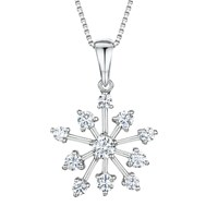 Jools By Jenny Brown Cubic Zirconia Snowflake Pendant Necklace Silver