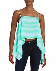 Design Lab Lord And Taylor Asymmetrical Cropped Top Mint