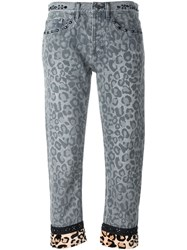 Marc By Marc Jacobs Leopard Print Slim Jeans Grey