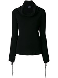 J.W.Anderson Draped Neck Sweater Virgin Wool Black