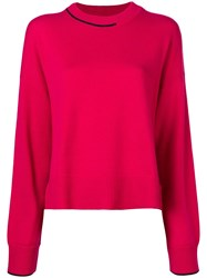 Pringle Of Scotland Loose Fit Cashmere Sweater Pink
