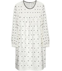 Marc Jacobs Embellished Cotton Dress White