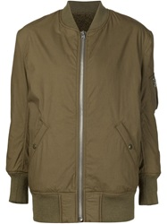 Nlst Oversized Bomber Jacket Green