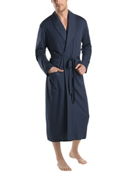 Hanro Night And Day Knit Robe Black Iris Black Iris Small