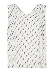 Ellen Tracy Sleeveless Textured Chiffon Top Cream