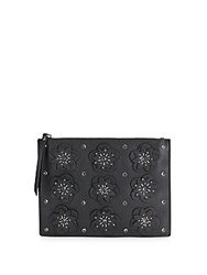 French Connection Lynn Floral Motif Clutch Black