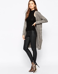 Ax Paris Longline Lightweight Cardigan Grey