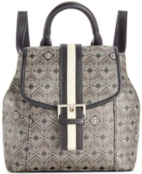 Giani Bernini Graphic Signature Convertible Backpack Only At Macy's Black Multi