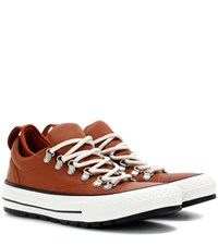 Converse Ctas Descent Ox Leather Sneakers Orange