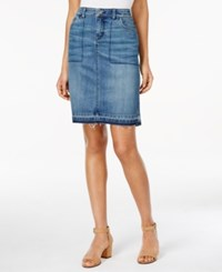 Styleandco. Style Co. Released Hem Denim Pencil Skirt Only At Macy's Thunder
