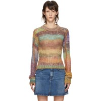 Acne Studios Multicolor Cropped Mohair Sweater
