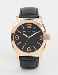 Brave Soul Watch With Black Strap And Dial