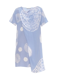 Richard Nicoll Draped Tie Dye Silk Dress