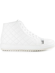Thakoon Addition Quilted Hi Top Sneakers White