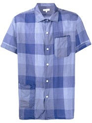Engineered Garments Plaid Short Sleeve Shirt Blue