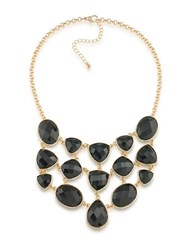 1St And Gorgeous Multi Shape Bib Necklace Black