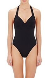 Eres Cassis Halter Swimsuit Black