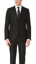 Calvin Klein New Slater 2 Button Linen Blazer Black