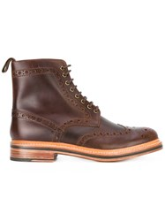 Grenson Fred Boots Men Leather 10 Brown