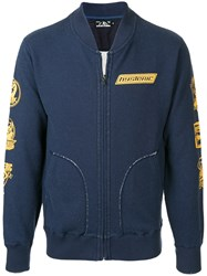 Hysteric Glamour Full Zip Sweatshirt With Print Cotton Polyester Blue