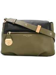 Marc Jacobs Front Pocket Cross Body Bag Women Calf Leather One Size Green