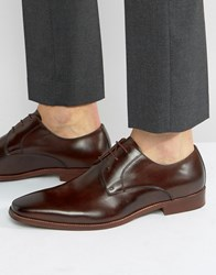 Dune Richmonds Leather Derby Shoes Brown Black