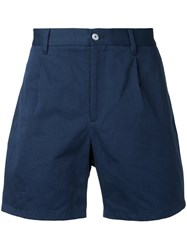 Kent And Curwen Short Length Chino Shorts Men Cotton 52 Blue