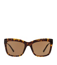 Burberry Shoes And Accessories Square Gabardine Sunglasses Female Brown