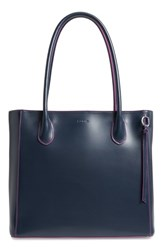 Lodis Cecily Rfid Leather Tote Blue Navy Orchid