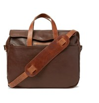 Rrl A 2 Leather Briefcase Dark Brown
