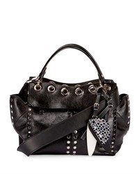 Proenza Schouler Curl Studded Leather Top Handle Bag Black