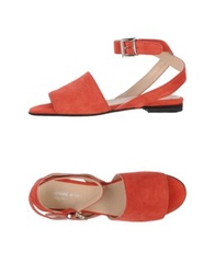 Armani Jeans Sandals Red