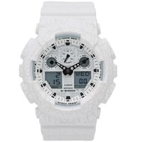 G Shock Casio Ga 100Cg 7Aer 'Cracked Ground' Watch White