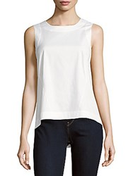Lafayette 148 New York Melina Solid Sleeveless Top White