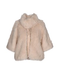 Relish Coats And Jackets Faux Furs Light Pink