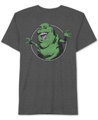 Jem Men's Ghostbusters Graphic Print T Shirt Charcoal