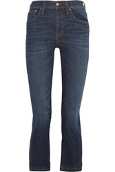 Madewell Demi Boot Cropped Mid Rise Jeans Dark Denim