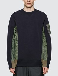 Sacai Sponge Sweat X Ma 1 Pullover Green
