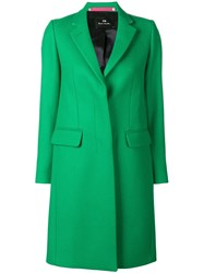 Paul Smith Ps By Single Breasted Coat Green