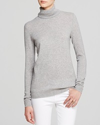 C By Bloomingdale's Turtleneck Cashmere Sweater Light Grey