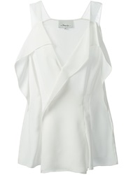 3.1 Phillip Lim Drape Wrap Blouse White