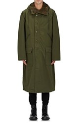 Nlst Men's Reversible Ripstop Hooded Parka Dark Green