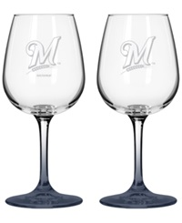 Boelter Brands Milwaukee Brewers 2 Pack 16 Oz. Wine Glass