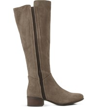 Steve Madden Suede Knee High Boots Taupe Suede