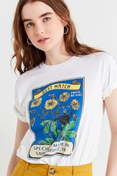 Urban Outfitters Uo Sunflower Matchbox Tee White